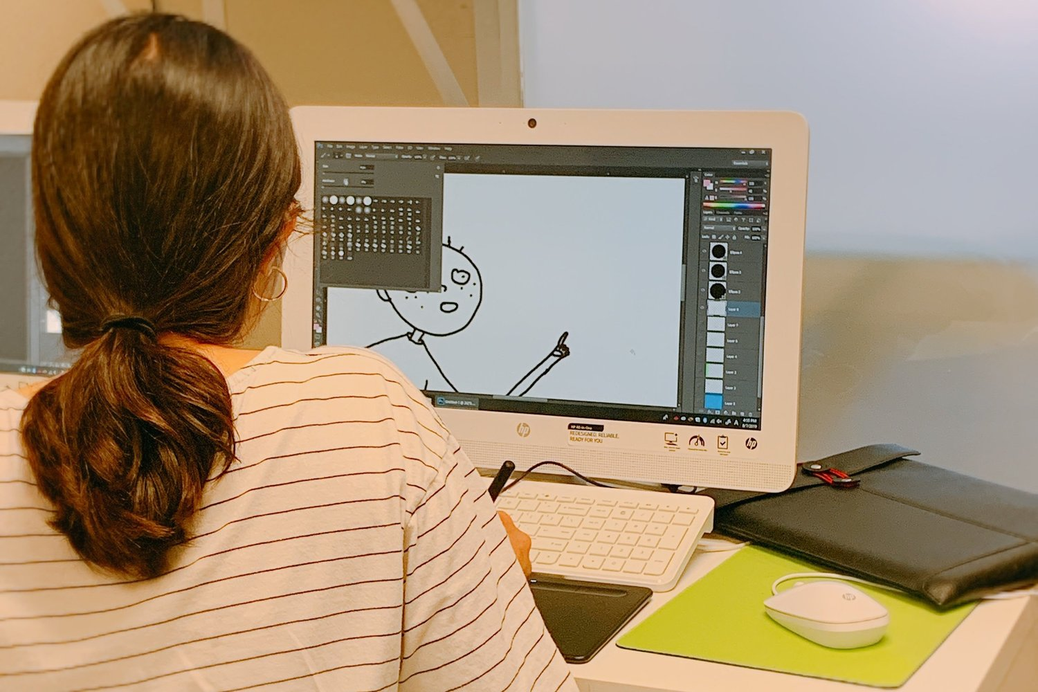 DIGITAL ARTS CLASS - students will learn how to do character design.