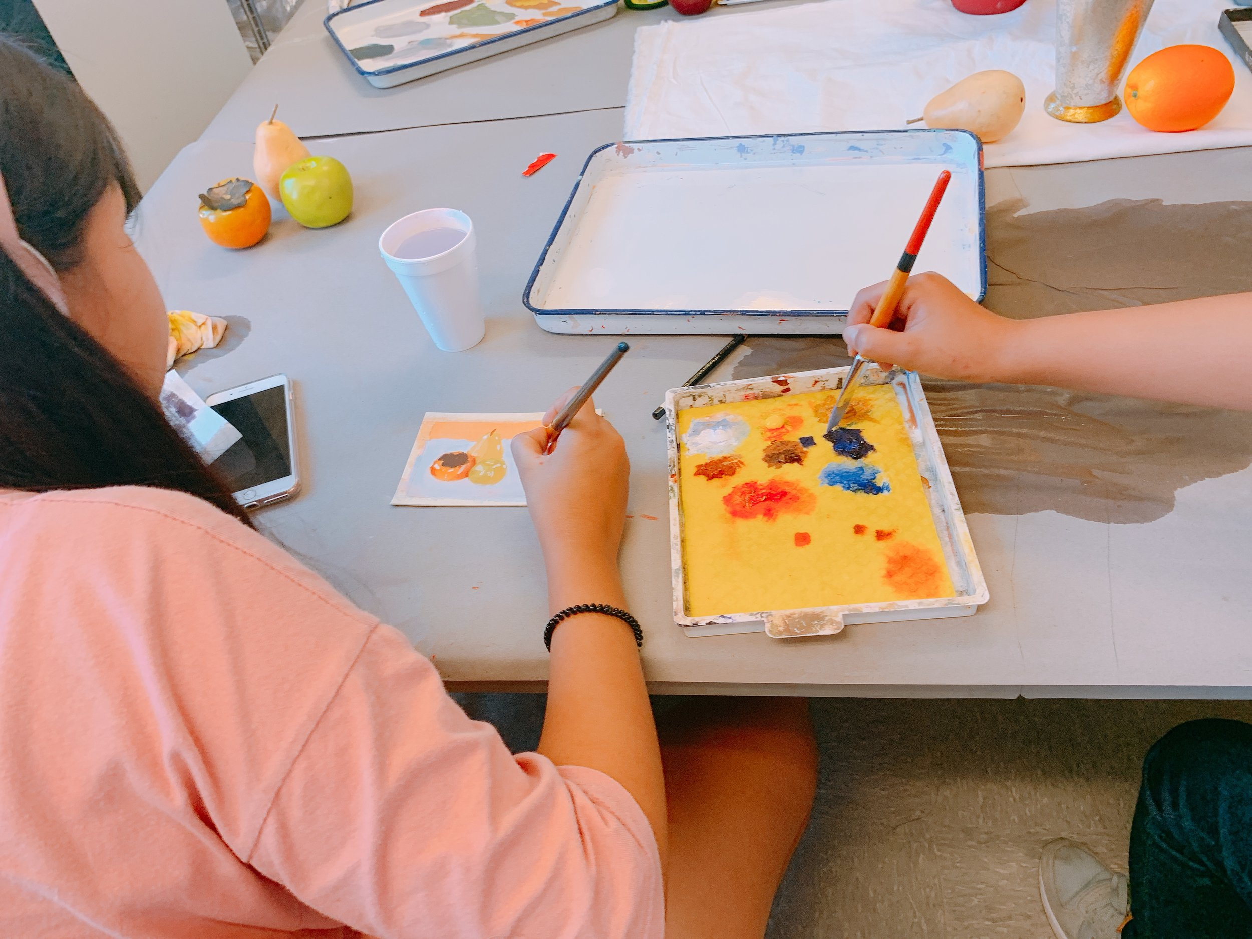 PAINTING CLASS - This class will be focusing on value, color, and lighting. Students will learn how to observe and capture accurate color relationships, how to breakdown and understand various lighting, basic shapes, simplicity, and how to enhance color. (The class will be using traditional medium)