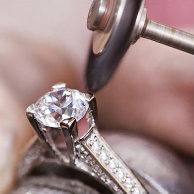Fine Jewelry Repair - We take restoring your precious heirlooms very seriously.From simple repair, ring sizing, prong retipping, soldering & clasp repair to pearl restringing and fine antique jewelry restoration.We are happy to assist with all your repair needs.