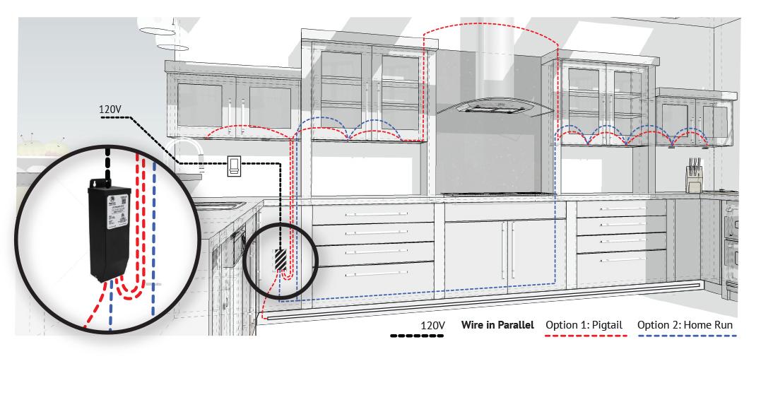 led cabinet lighting wiring diagrams — led cabinet lighting