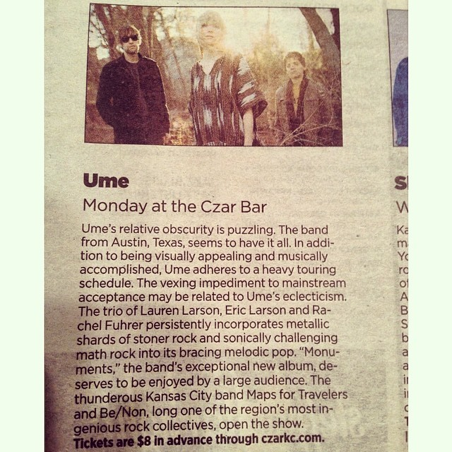 Nice write up about tonight's show at Czar Bar in the KC Star!