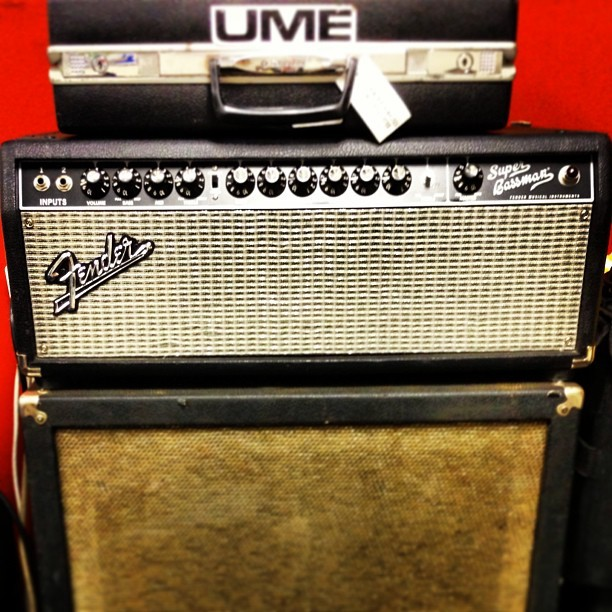 Thanks @fenderguitar for the awesome bass amp for our upcoming tour!!