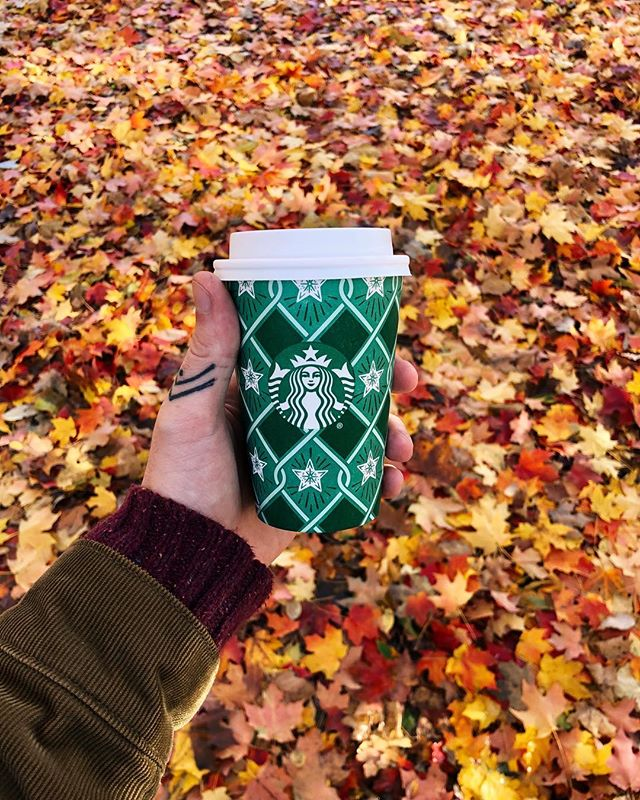 Obligatory fall leaves & @starbucks pic 🍂☕️🍁 #chrisdoesdrinks . . . #autumn #fall #fallleaves #autumnleaves #starbucks #starbuckscup #basic #autumnal #fallvibes #vsco #shotoniphone #shotoniphonex #whatimholding #whatimdrinking #newyork #nyc #brooklyn #prospectpark #psl #peppermintmocha #latte #coffee #coffeeslut #coffeeporn #coffeeaddict #coffeegram #☕️