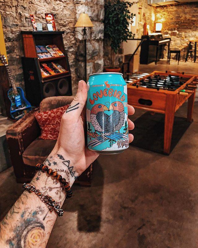 I love trying local brews everywhere I go. Although I felt like this beer was mocking me a little bit. #lovebirdmorelikelovebeer #singleaf 📍 Nashville, TN 🍺 @jackalopebrew Lovebird #chrisdoesdrinks