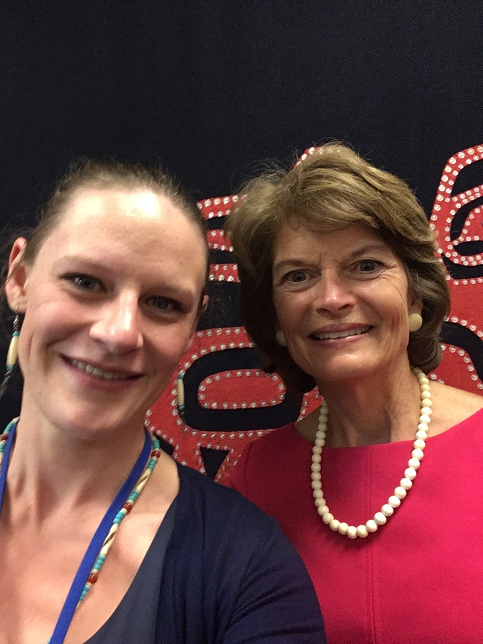 - AKPIRG Executive Director, Jill Yordy, with Senator Lisa Murkowski during Consumer Lobby Day 2018