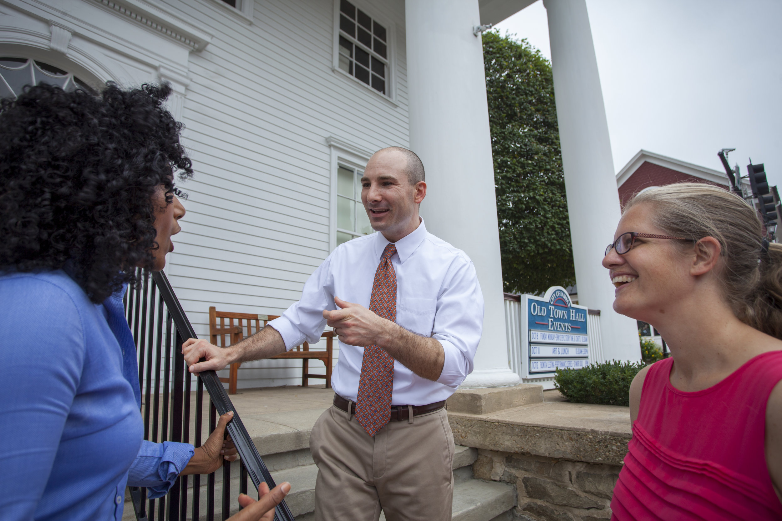 Steve in downtown Fairfax with supporters