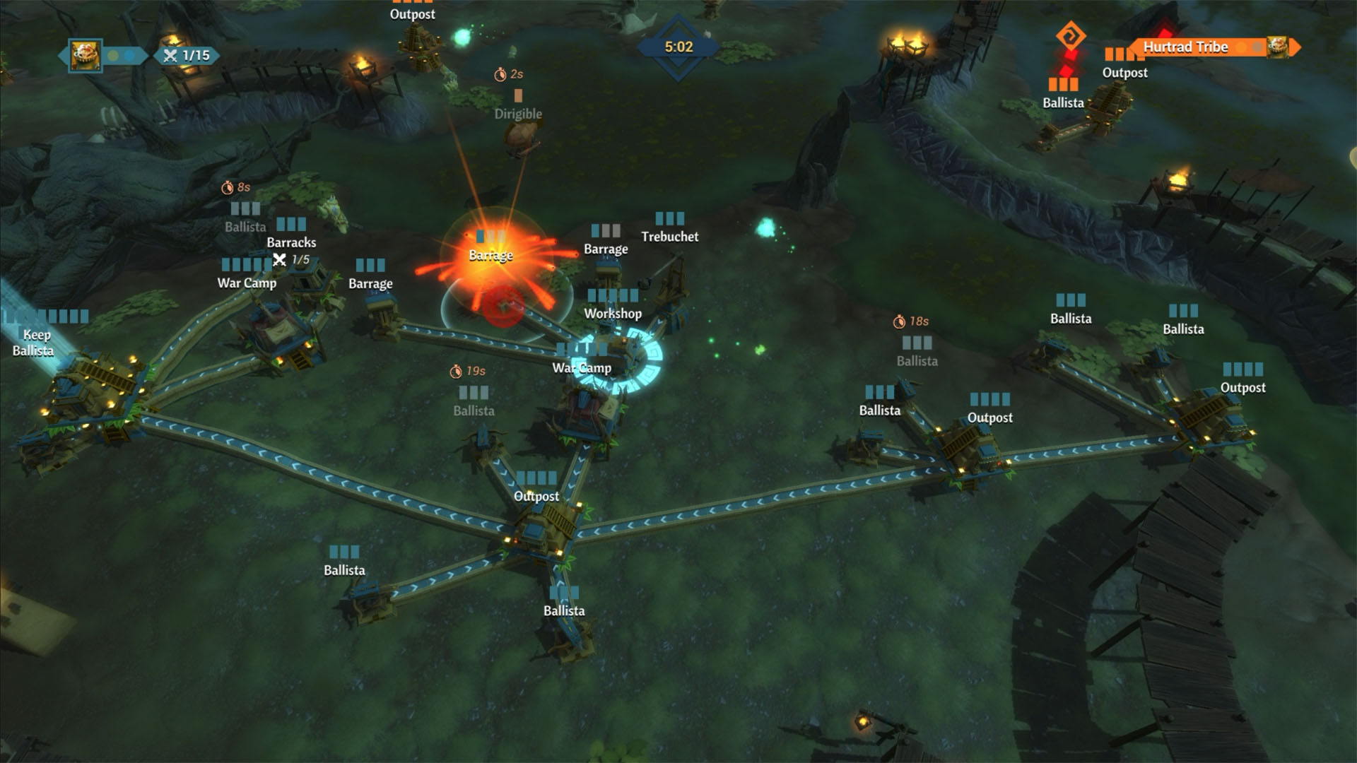 Siegecraft Commander offers a variety of battle environments across two campaigns.