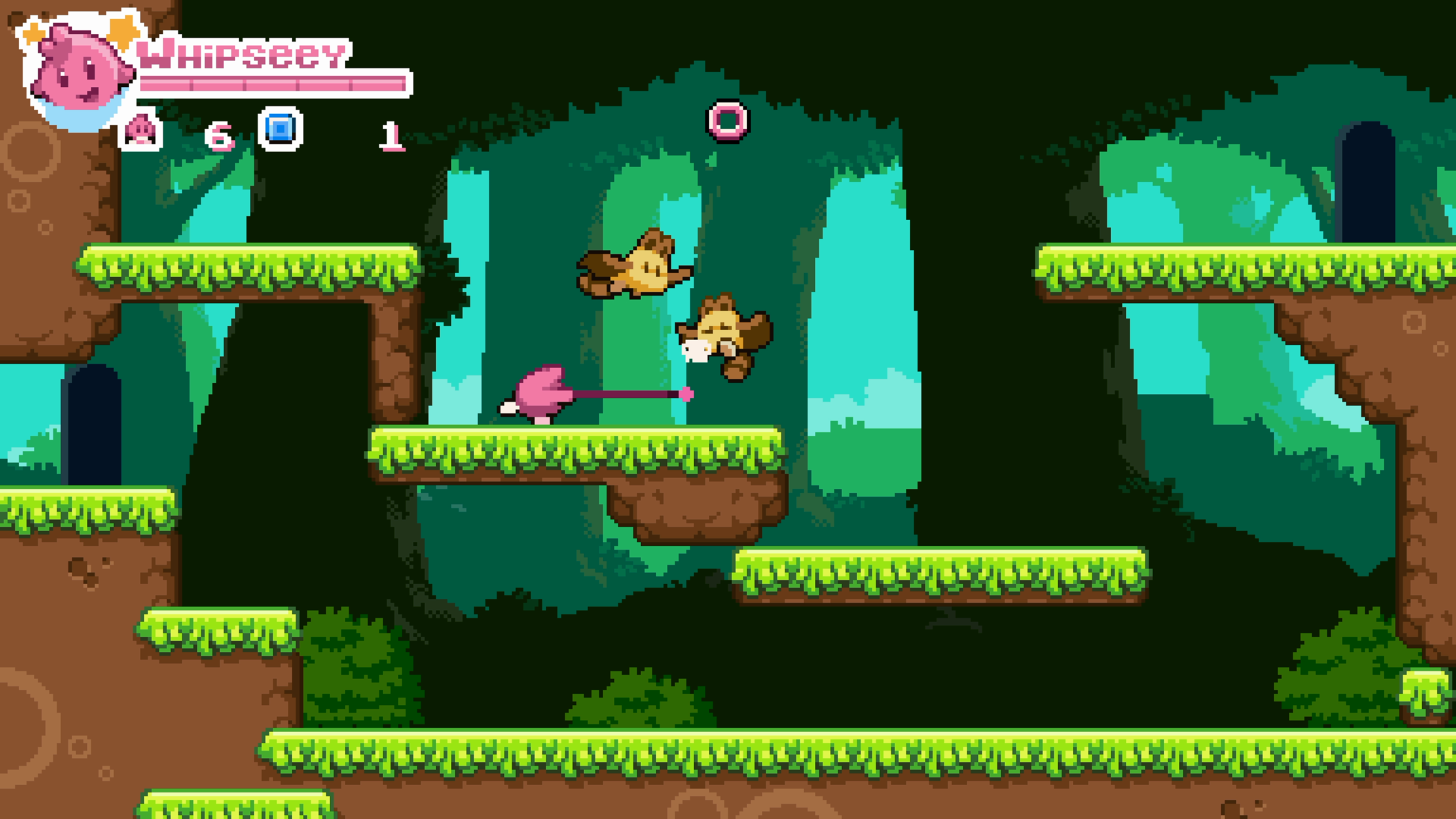 Like other classic platformers, Whipseey will get more challenging as you go, with more enemies and longer levels.