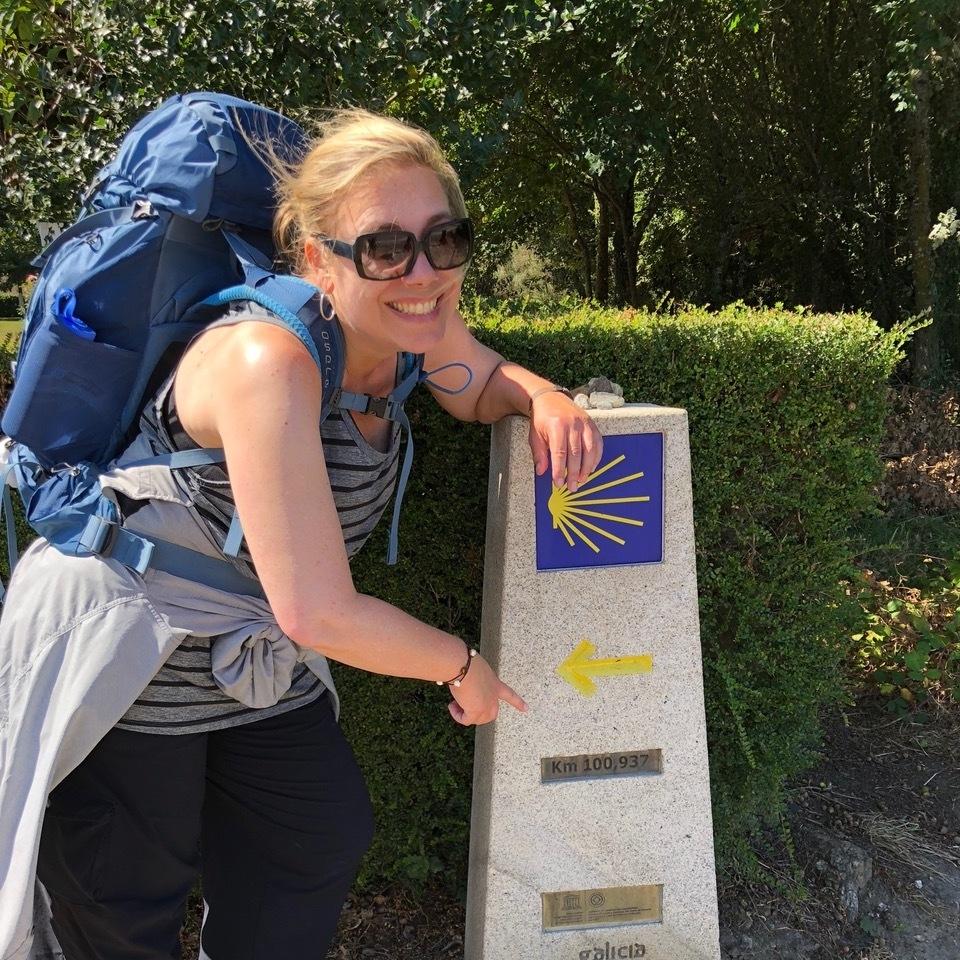 Ruth Dickey on the Camino.