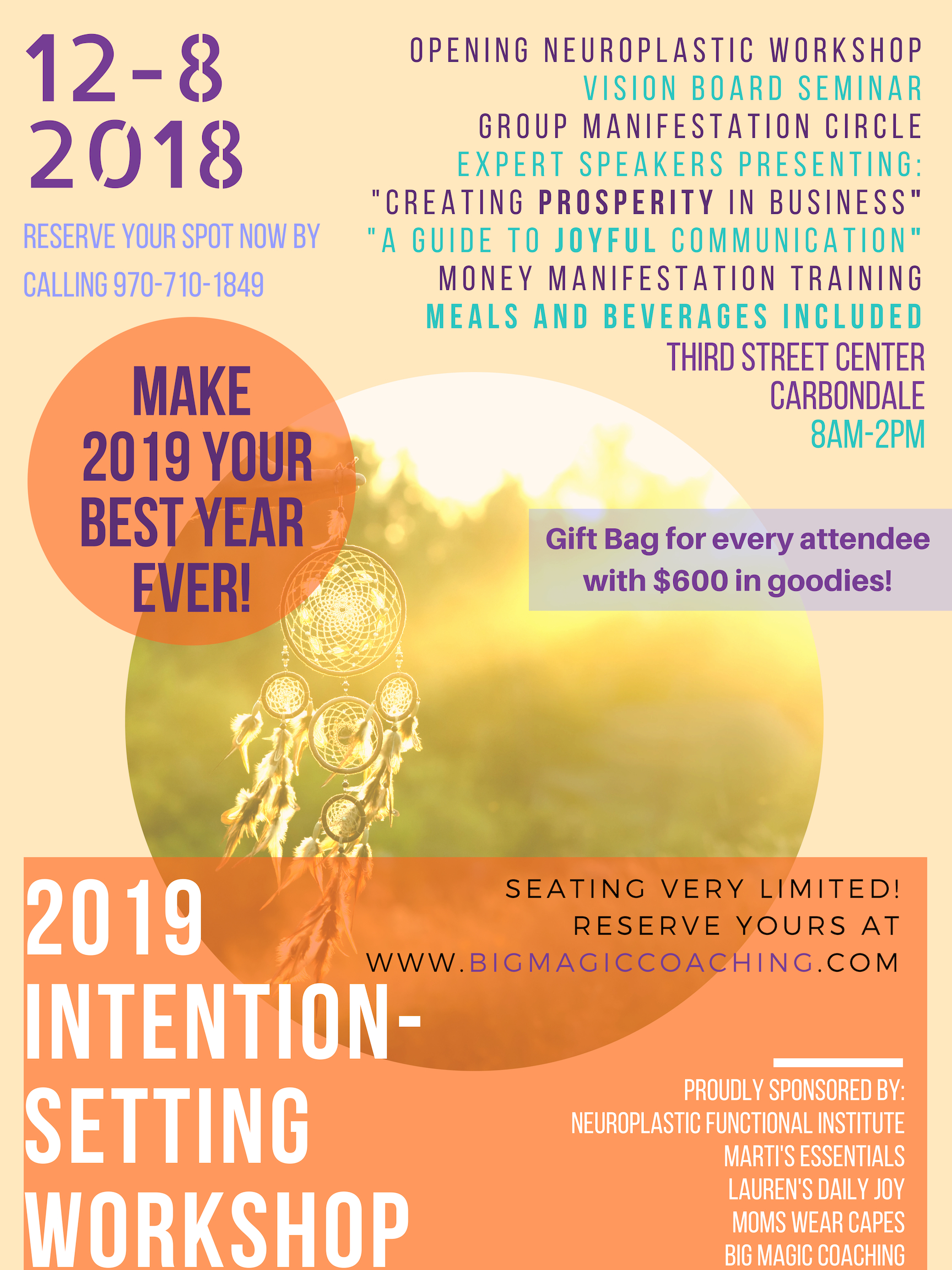 2019 Intention Setting Workshop! - Sign up here…
