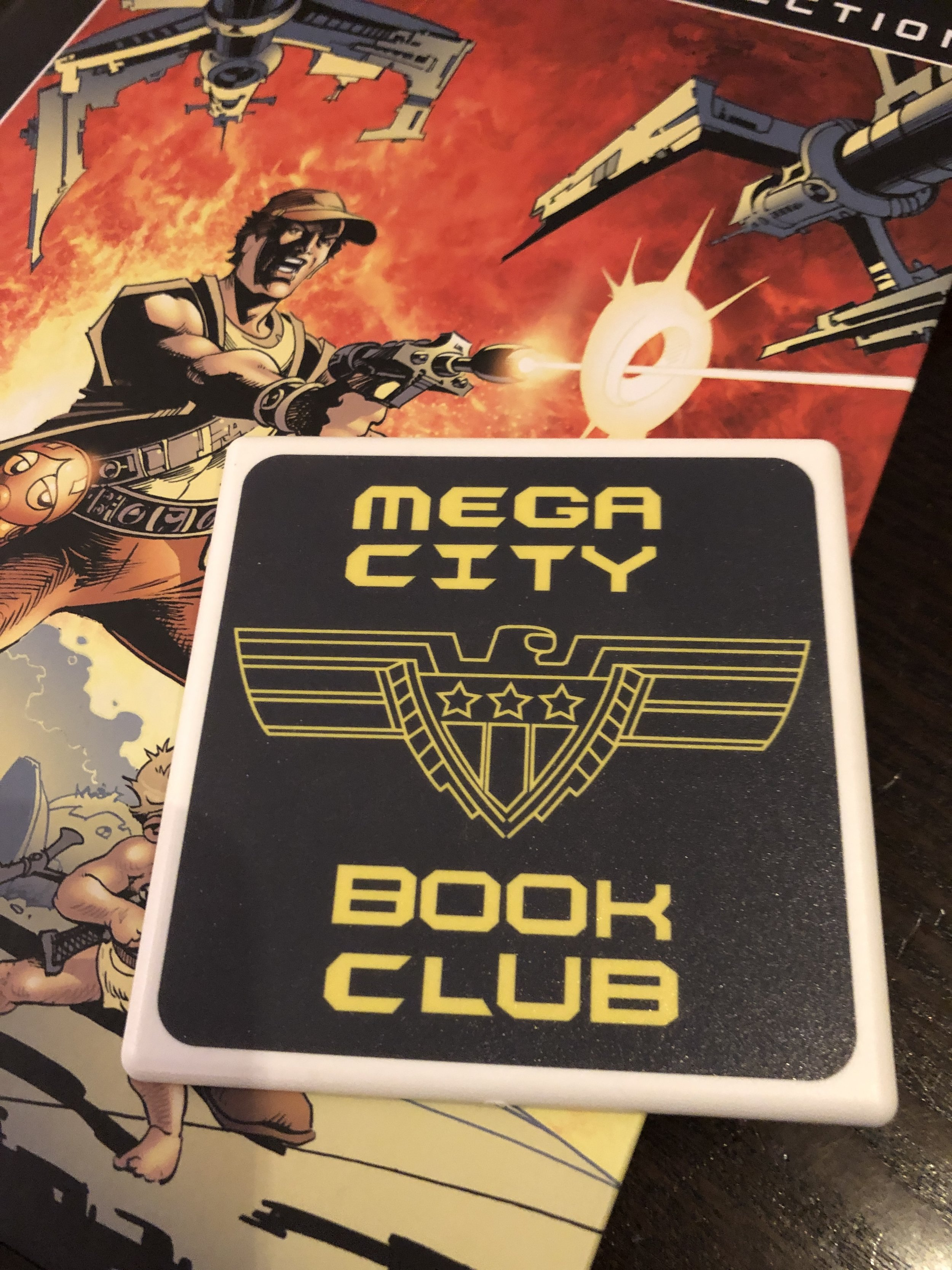 Damian did a podcast with Mega City Book Club