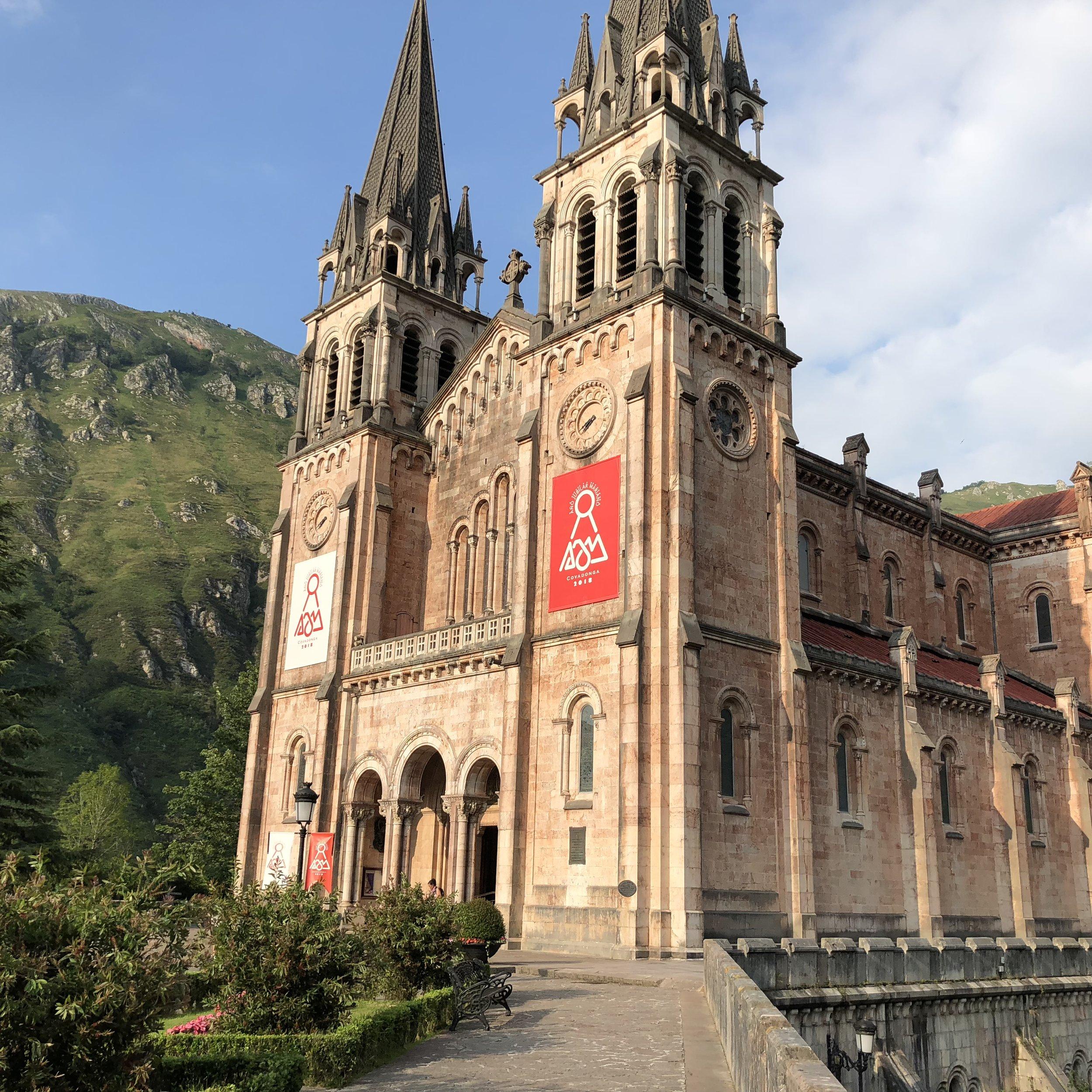 Basilica of the Covadonga Sanctuary.
