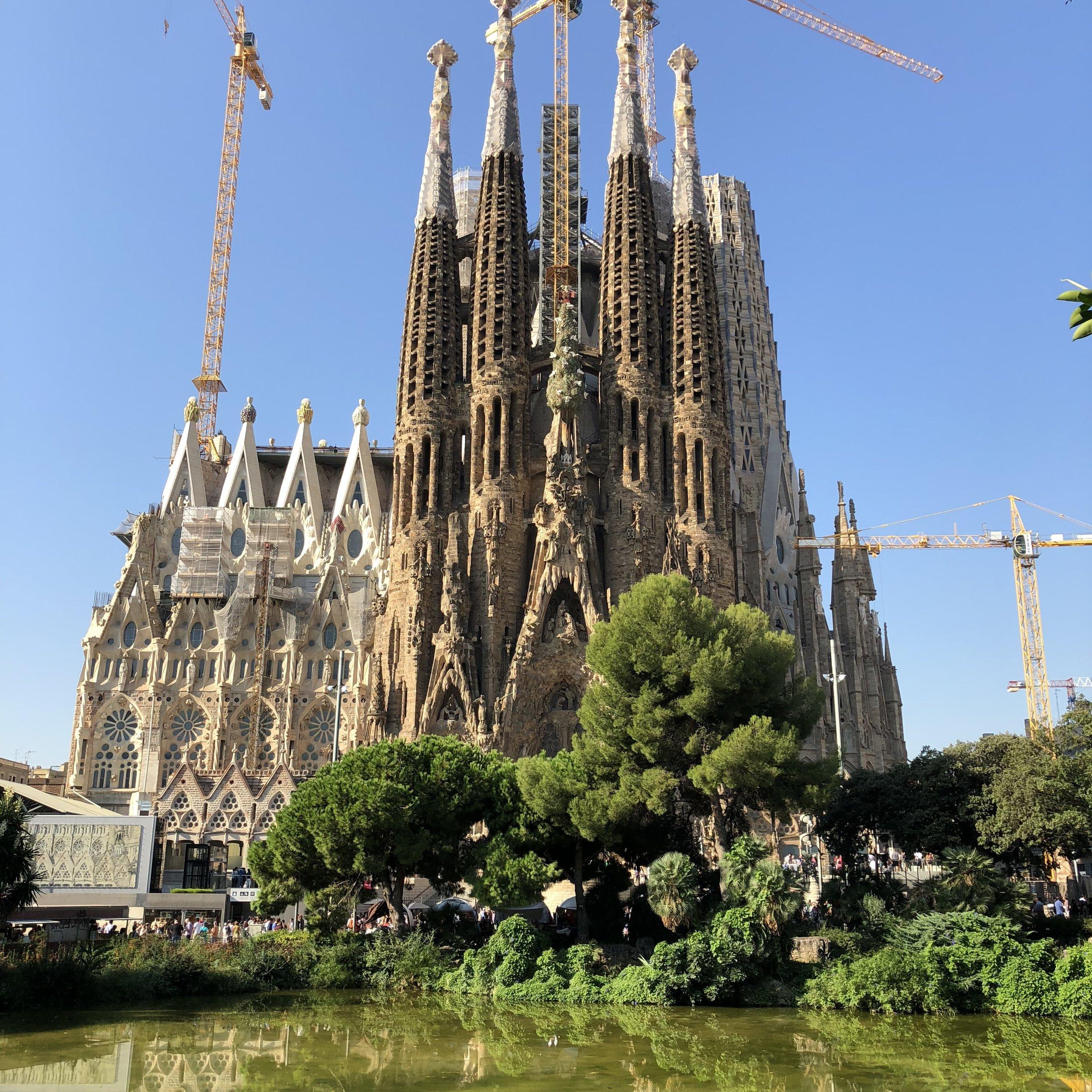The Sagrada Familia.