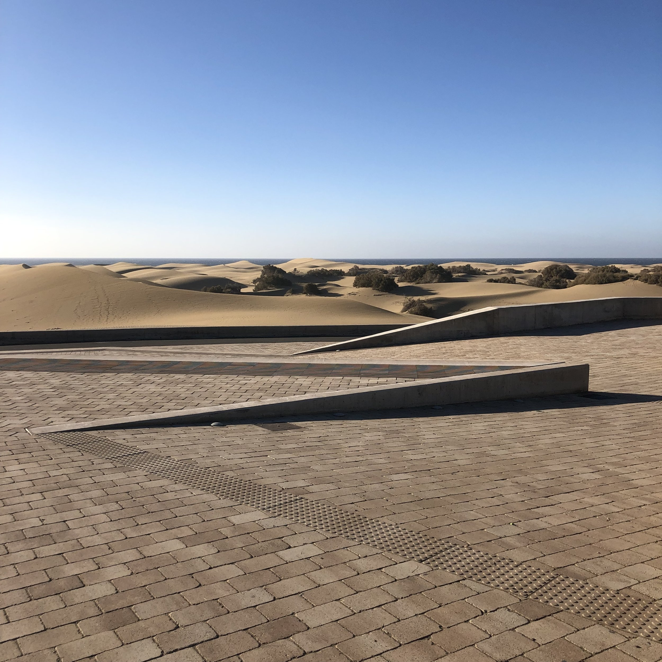 The lookout at the dunes of Maspalomas.
