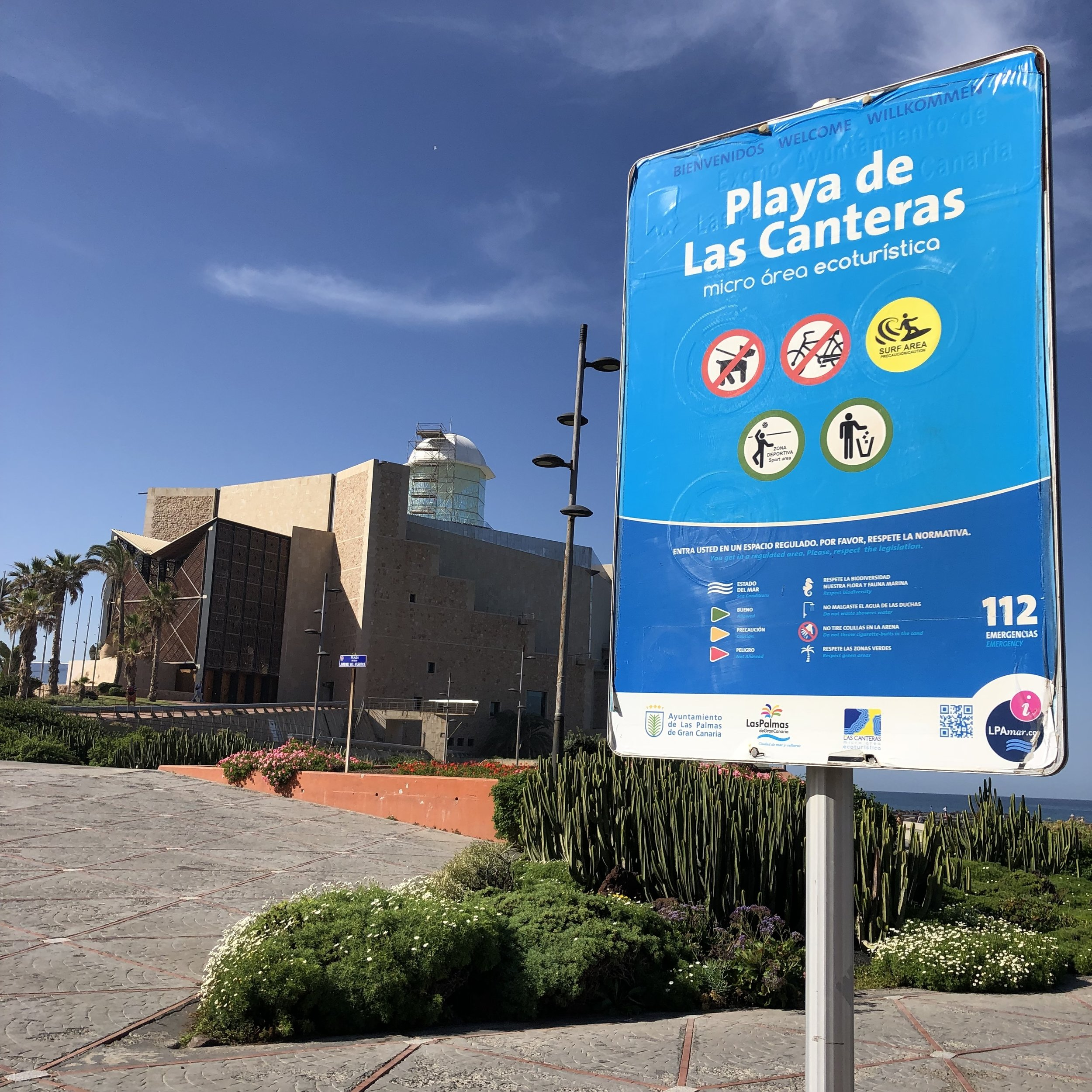 It is prohibited for dogs to walk in the tourist zones in Las Palmas de Gran Canaria.