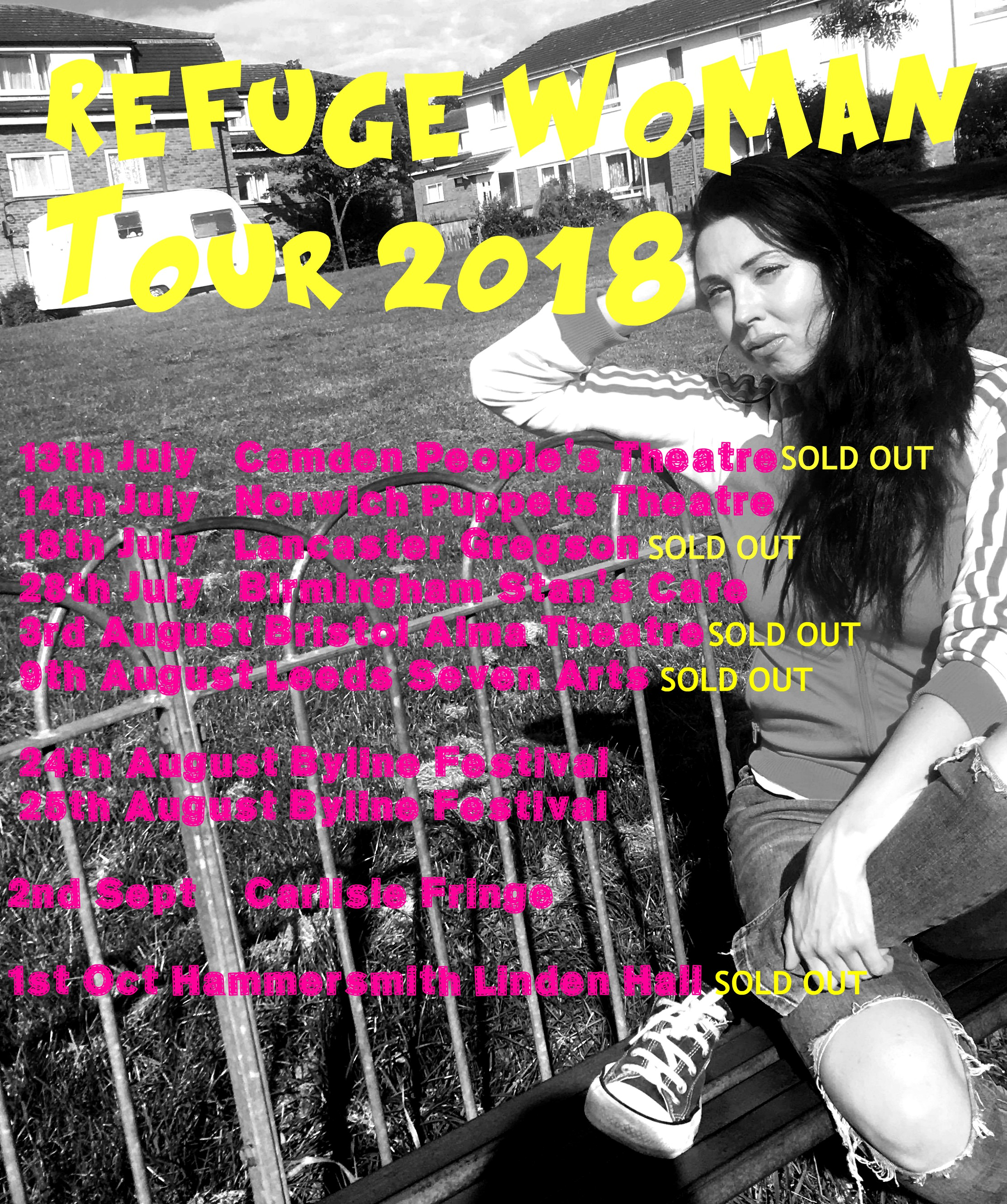 Refuge Woman work-in-progress tour 2018