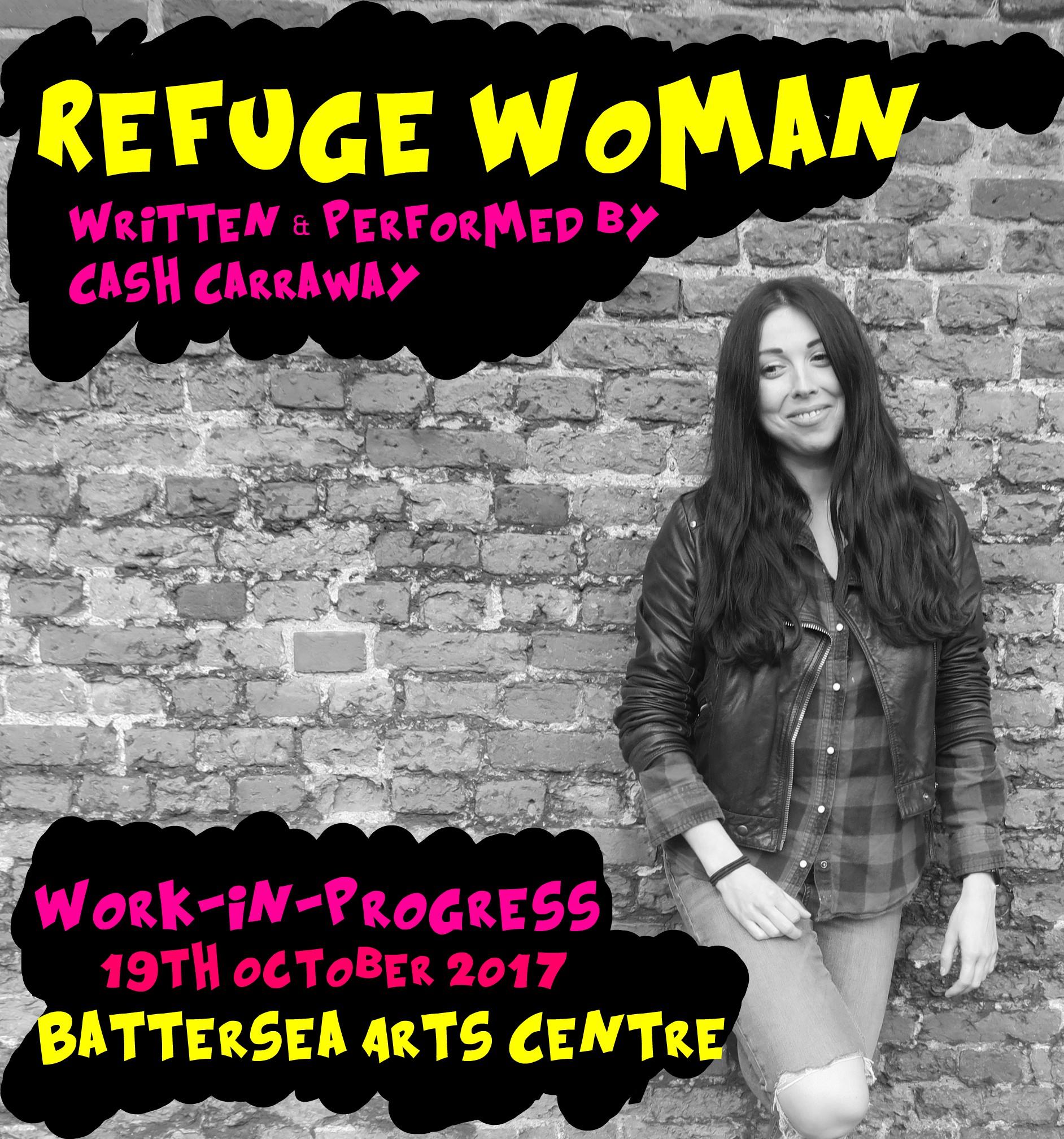 Original scratch night poster of Refuge Women, 2017