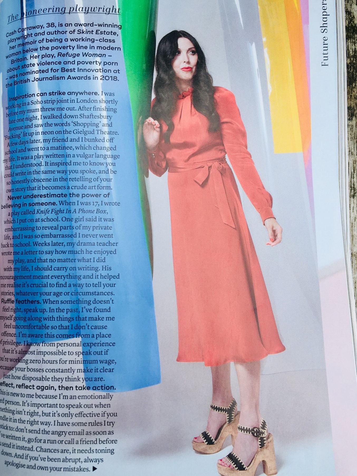 Cash Carraway in Marie Claire October 2019 issue. Future Shapers 2019.