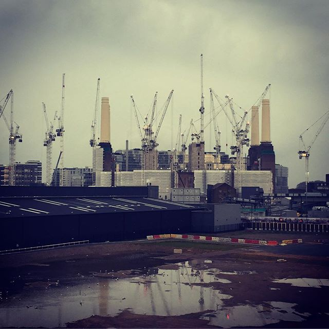 Battersea Power Station being resuscitated back to life by 15 cranes  One of the most iconic developments in london nearing its final phase
