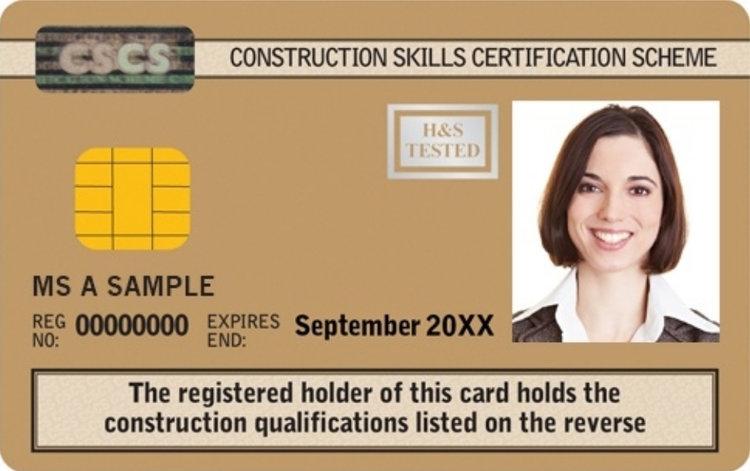 Gold CSCS card