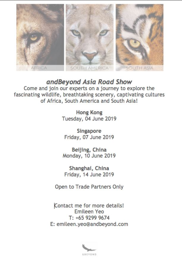 andBeyond asia roadshow - First stop Hong Kong! (private event) - by Exclusive LinksTue 4/06/2019 10:00am-2:00pm