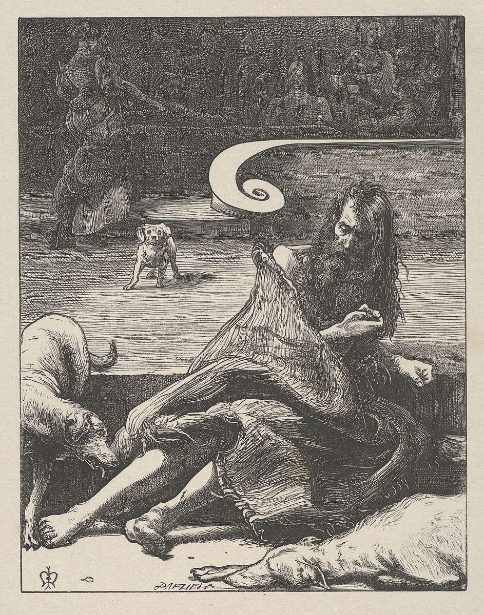 """The Rich Man and Lazarus,"" by John Everett Millais (1864)."
