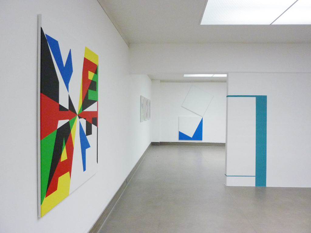 installation view 2 GkG Bonn,  'Lebt Theo?'  / with work by Bob Bonies at the far end