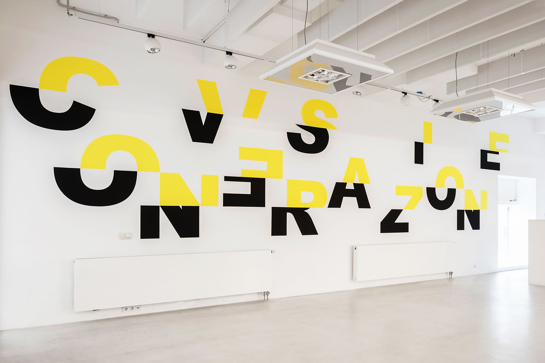 Conversation Piece, 4 x 11 m, wall paint, PHK18 / Convex Architects, part of the exhibition Contemporary Contemplations #4, 20 january - 29 march 2019, Rotterdam  Photo BEELD31
