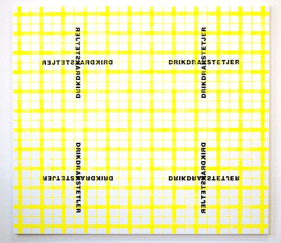 DRIKDRAKSTETJER (2) / 160 x 180 cm / acrylic on canvas / 2004
