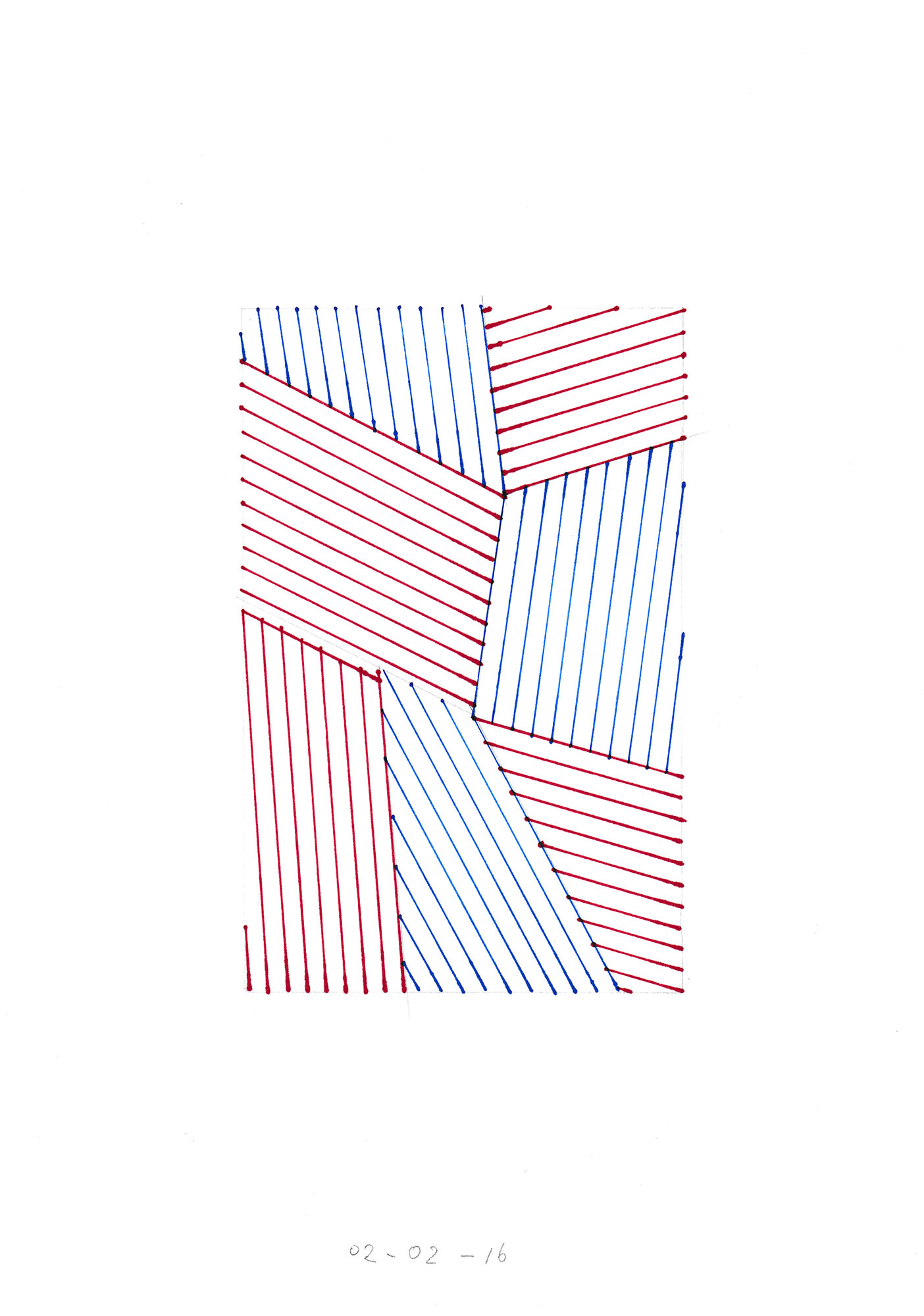 02-02-16 / permanent marker on paper / 21 x 29 cm each / 250 gs paper