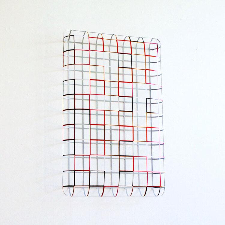 Gerda Kruimer -3D-Soft-Grid-6×10-5-colors-#3-±45x70x8,5cm-2020
