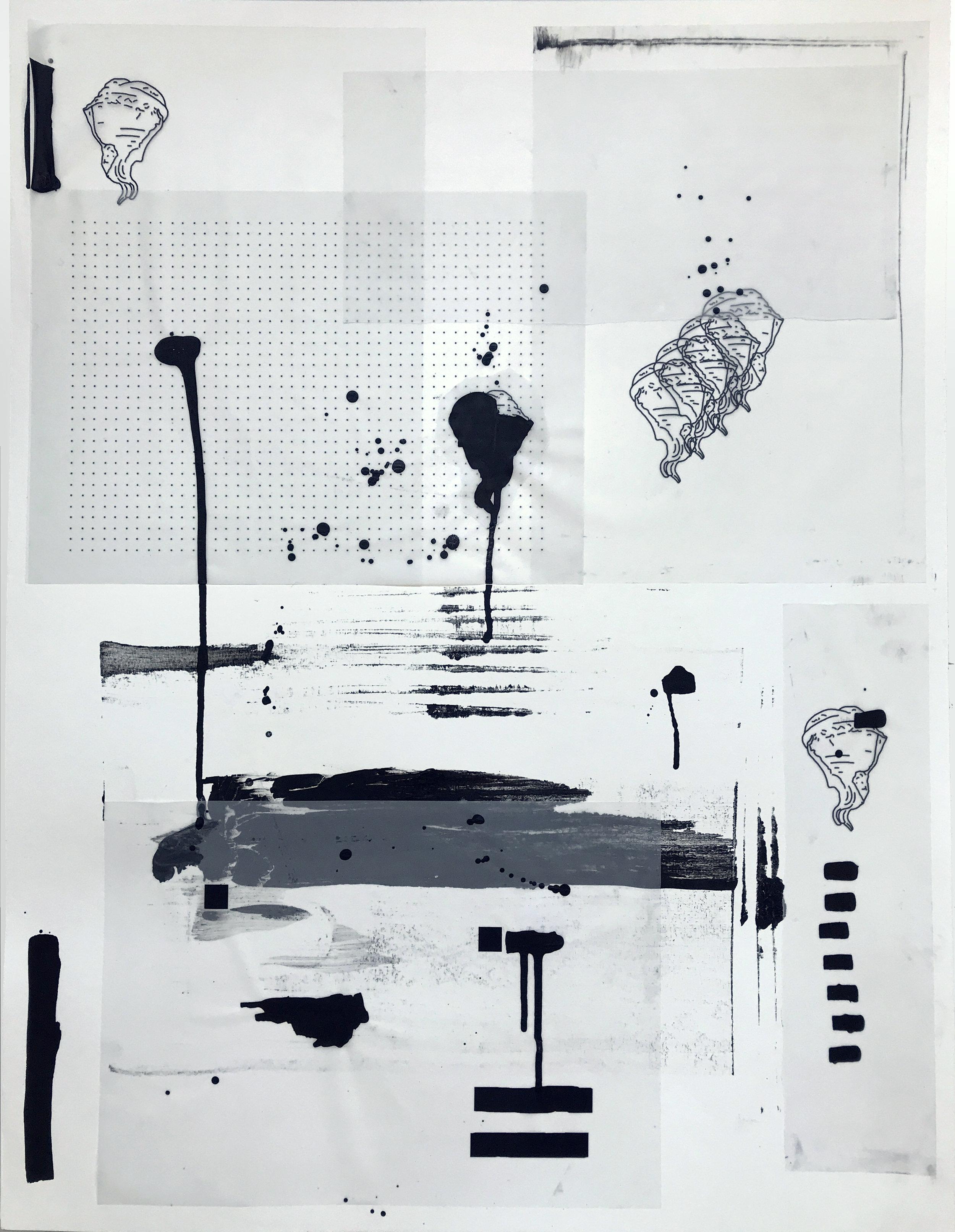 %22Detrás del espejo _ 18%22 - Técnica mixta sobre papel - 65 x 50 cm - Julián Brangold - 2018.jpg