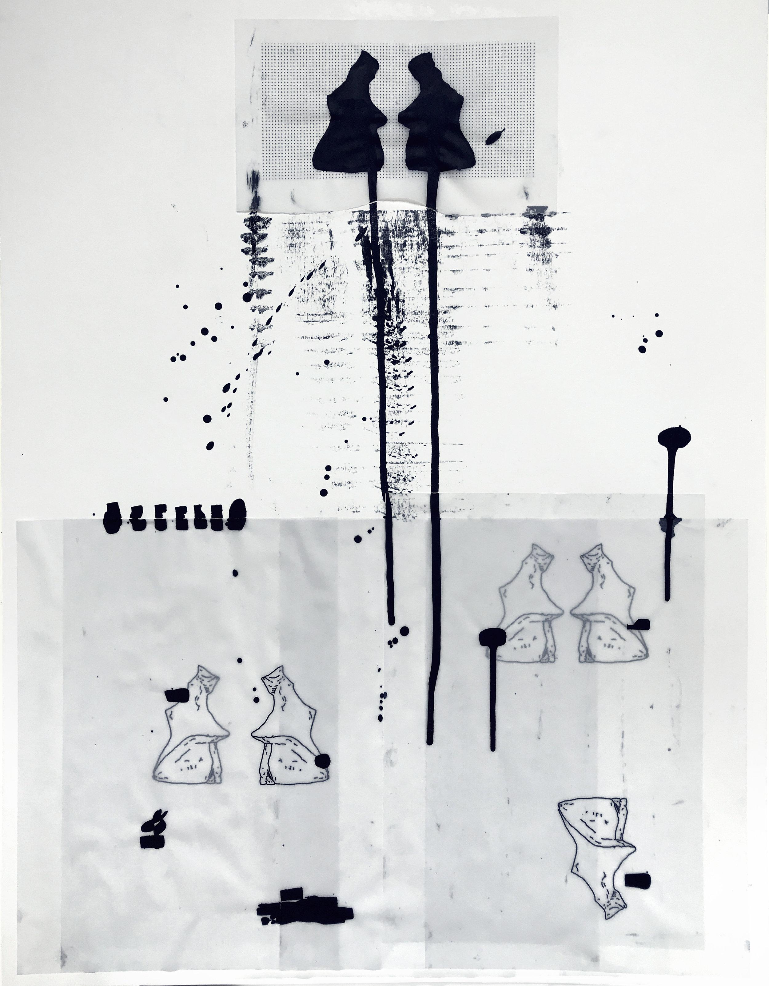 %22Detrás del espejo _ 20%22 - Técnica mixta sobre papel - 65 x 50 cm - Julián Brangold - 2018.jpg