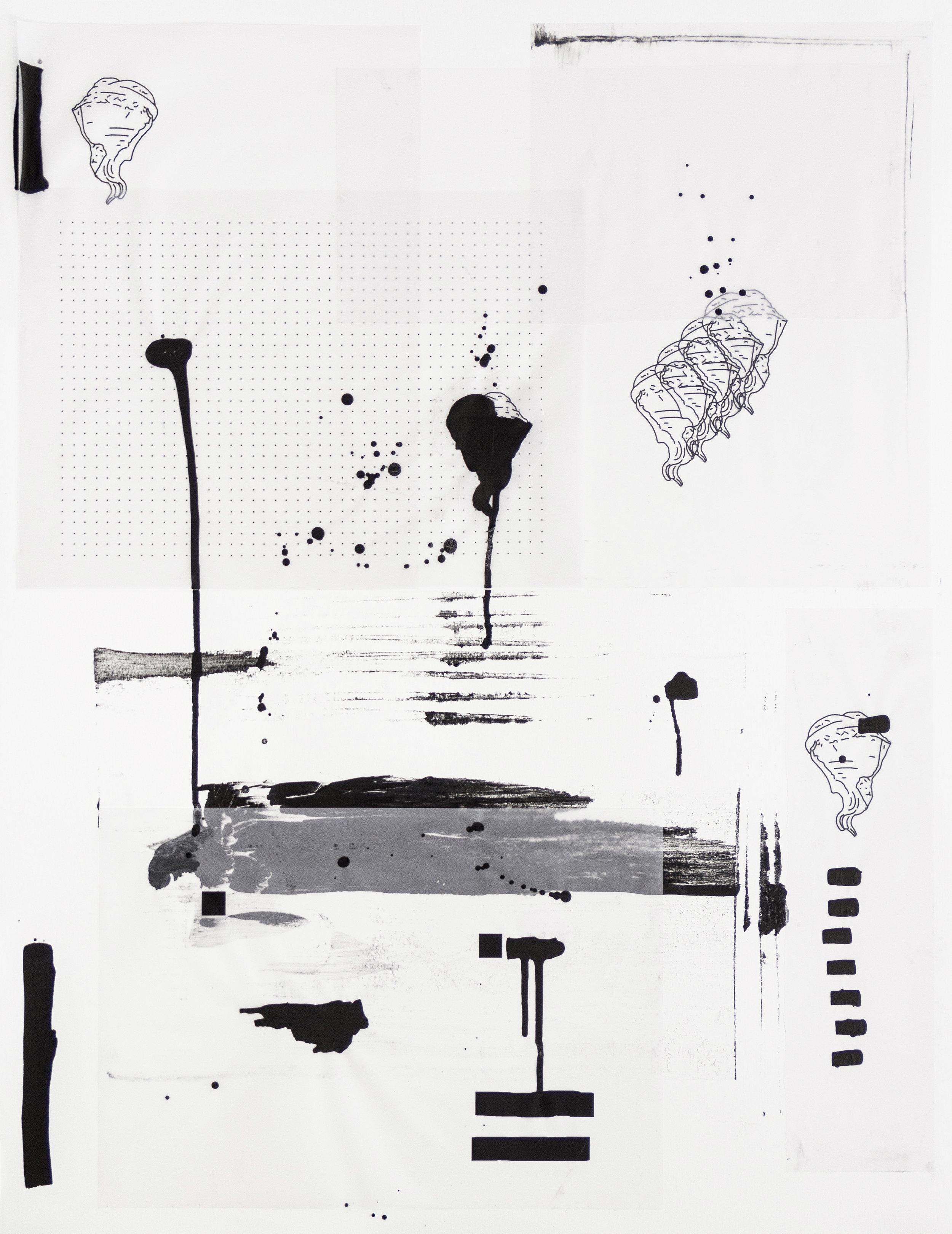 %22Detrás del espejo _ 18%22 - Papel transparente, pegamento, inkjet, tinta acrílica sobre papel Canson - 65 x 50 cm - Julián Brangold - 2018.jpg