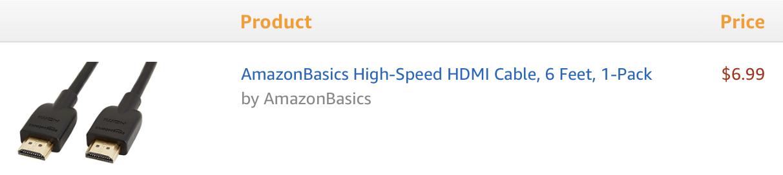 Amazon HDMI Cable