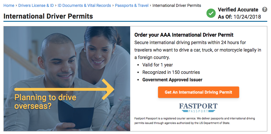 international driving permit usa