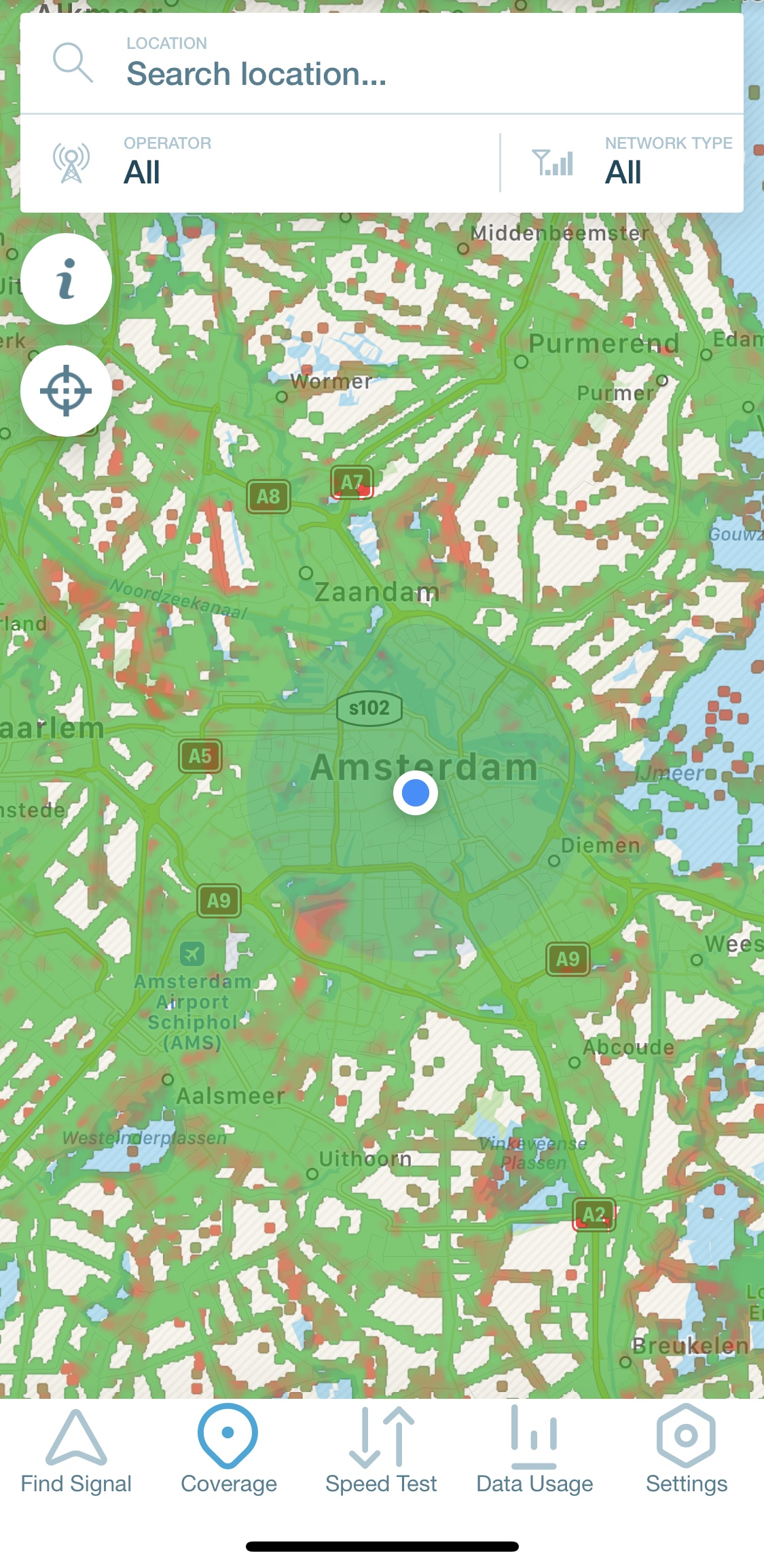 cell phone map for digital nomads