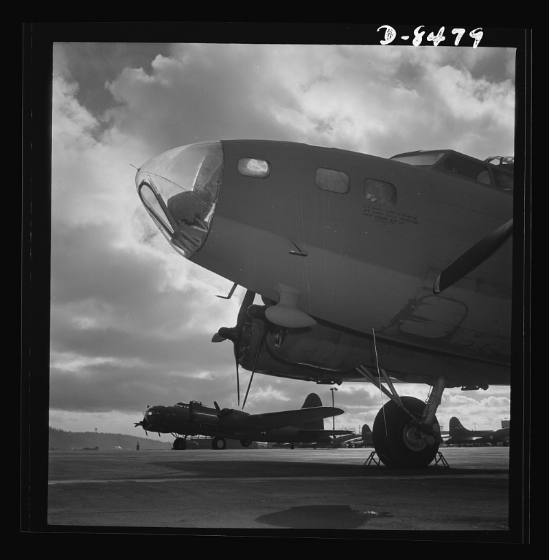 B-17 similar to the transport plane that carried five crew members and three passengers, including Eddie Rickenbacker, which ditched in the South Pacific on October 21, 1942.    Image courtesy of the Library of Congress