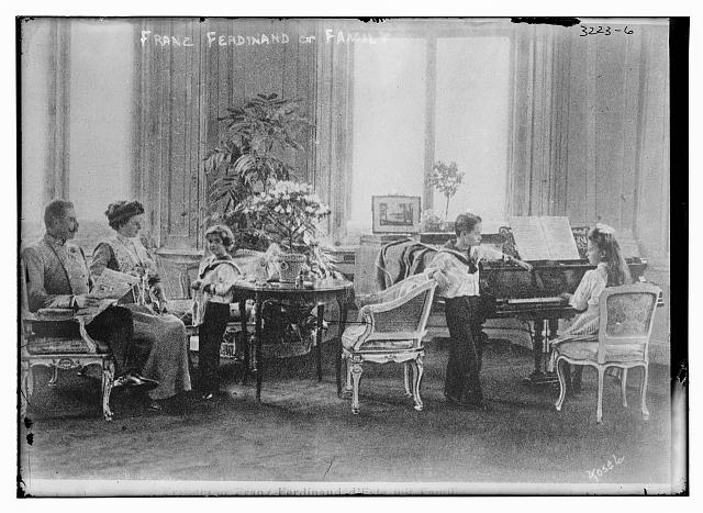 Archduke Franz Ferdinand and his Family (Image Courtesy of the Library of Congress)