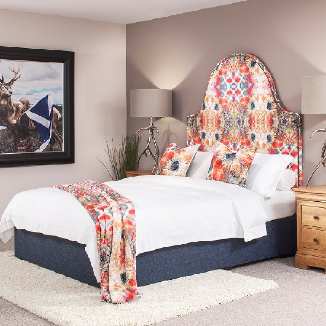 Mairi Helena Textiles - A collaboration I worked on with up and coming textiles designer,Mairi Helena Textiles and Robinsons Beds to produce a showcase, bespoke headboard.