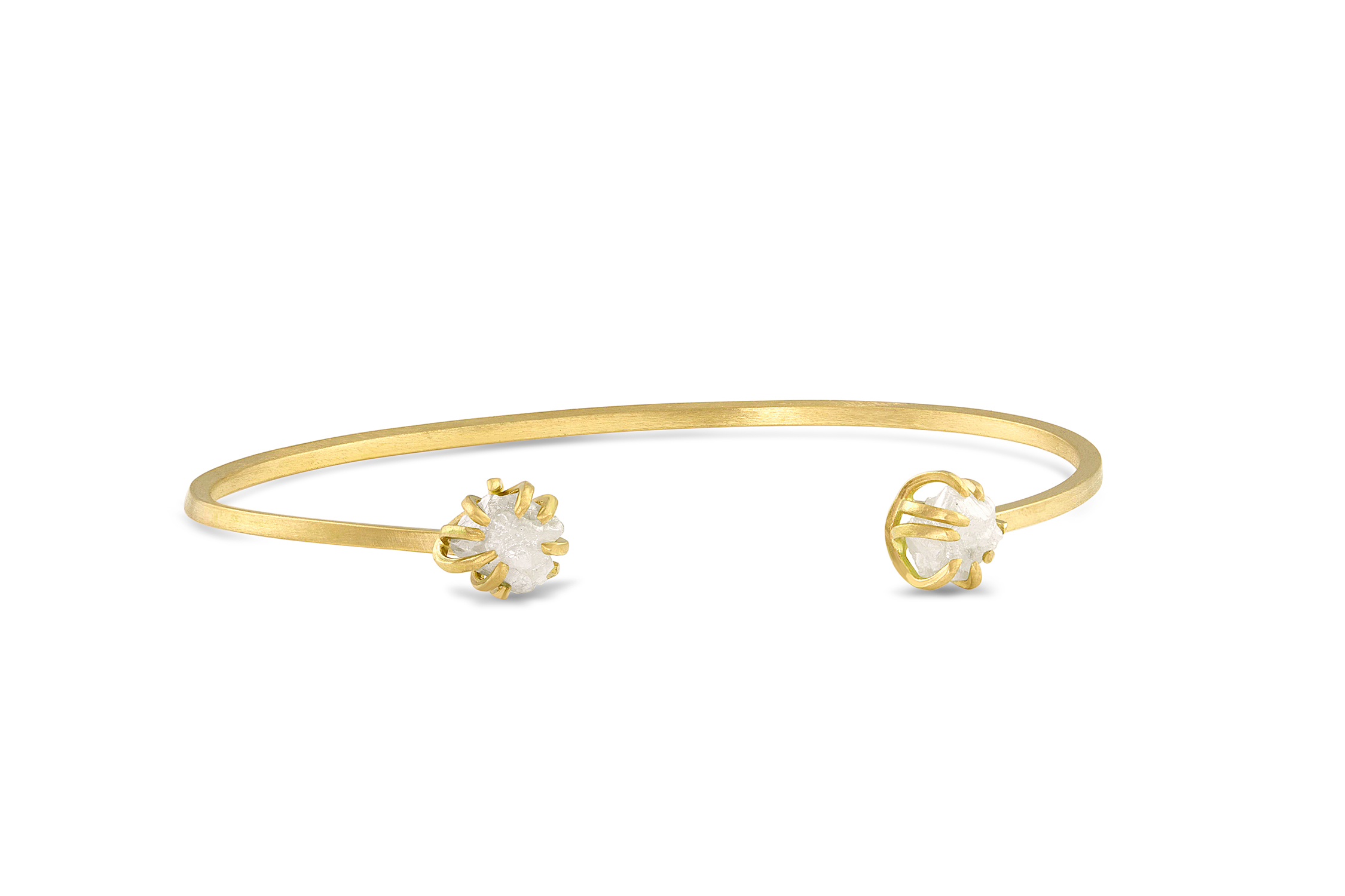 GOLD AND ROUGH DIAMOND BRACELET
