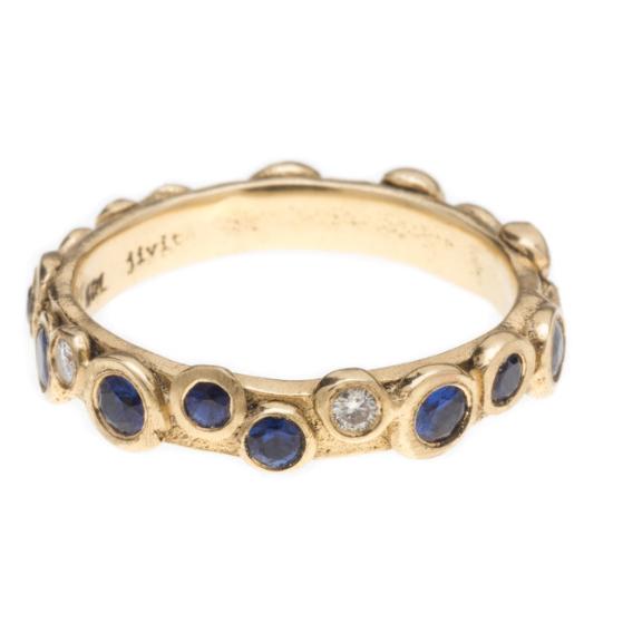 PARIS RING WITH DIAMONDS ANS SAPPHIRES BY JIVITA