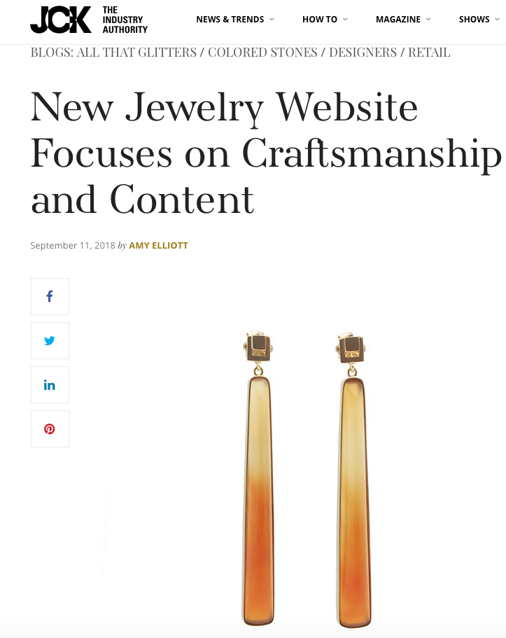 JCK FEATURES THE OPENING OF THE JEWELRY SHOWCASE