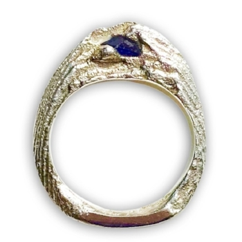 CUTTLEFISH CAST RING WITH TANZANITE BY I SPY ARTISAN JEWELRY