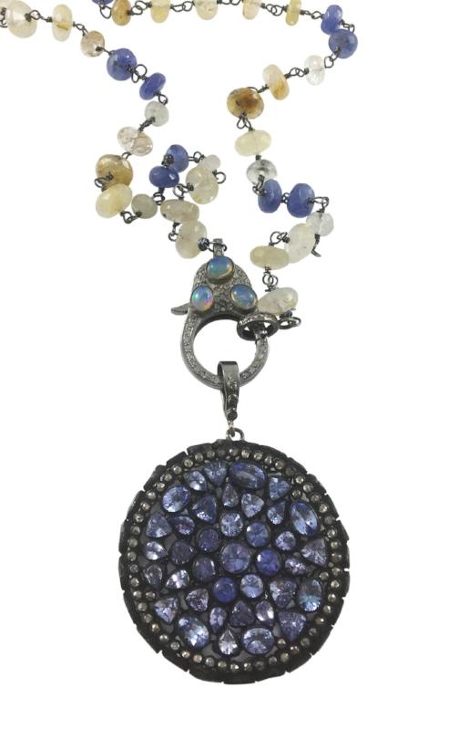 TANZANITE PENDANT WITH PAVE DIAMONDS BY GEMDROP