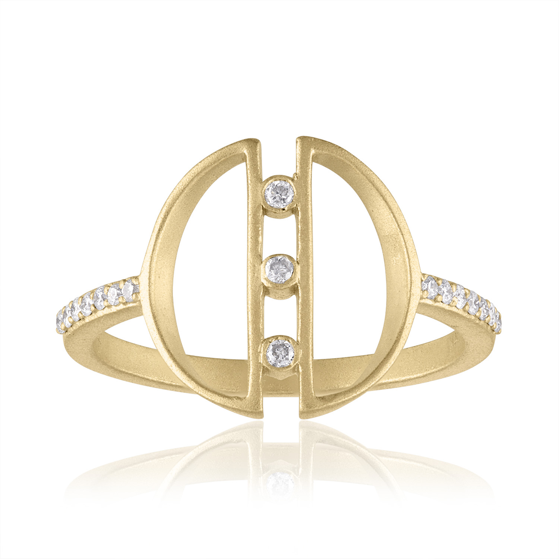 HARMONY GEOMETRIC RING WITH DIAMONDS