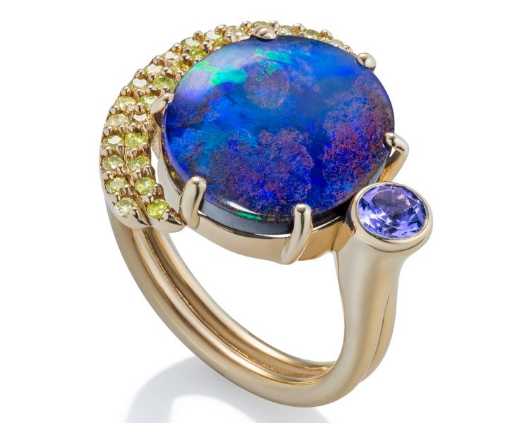 BOUDER OPAL EARTH RISE RING THE JEWELRY SHOWCASE