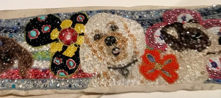 DOG PORTRAIT CUFF IN PROGRESS - IMAGE ANDREA GUTIERREZ