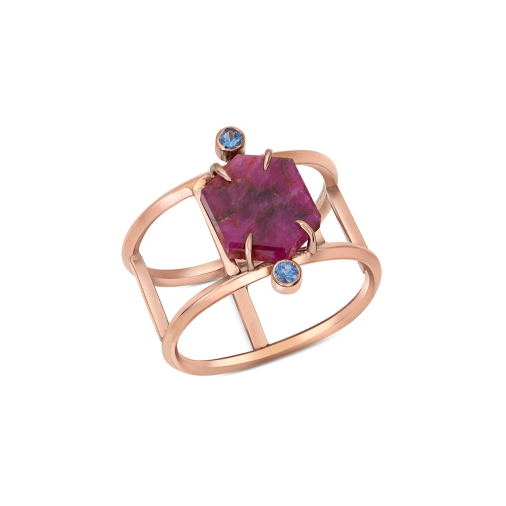 RUBY SLICE RING BY ENJI STUDIO