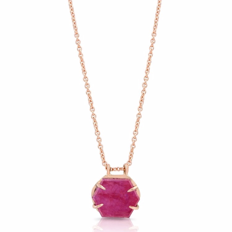 RUBY SLICE PENDANT BY ENJI STUDIO